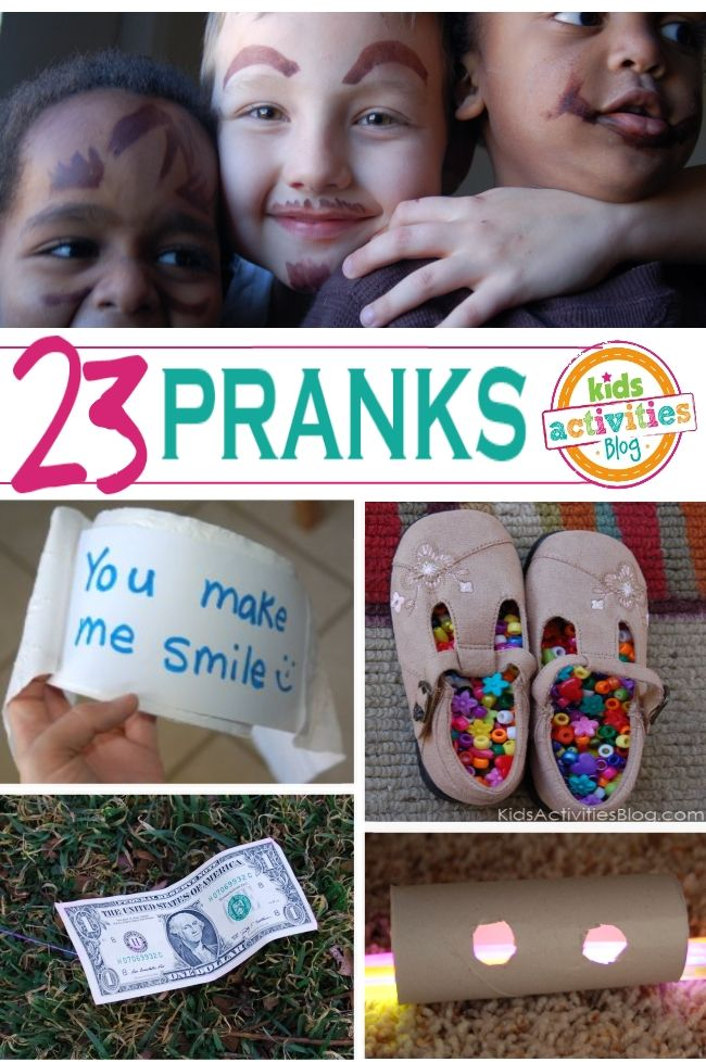 These are HILARIOUS!!  Lots of pranks for kids to do on each other - perfect for April Fools!