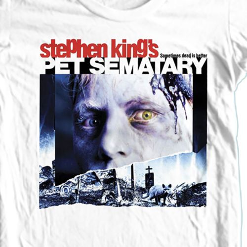 Pet-Sematary-T-shirt-Free-Shipping-retro-horror-movie-100-cotton-graphic-tee