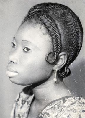 Threaded Hair -- 1960's West Africa