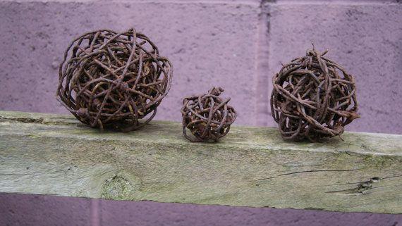 vintage barb wire spheres