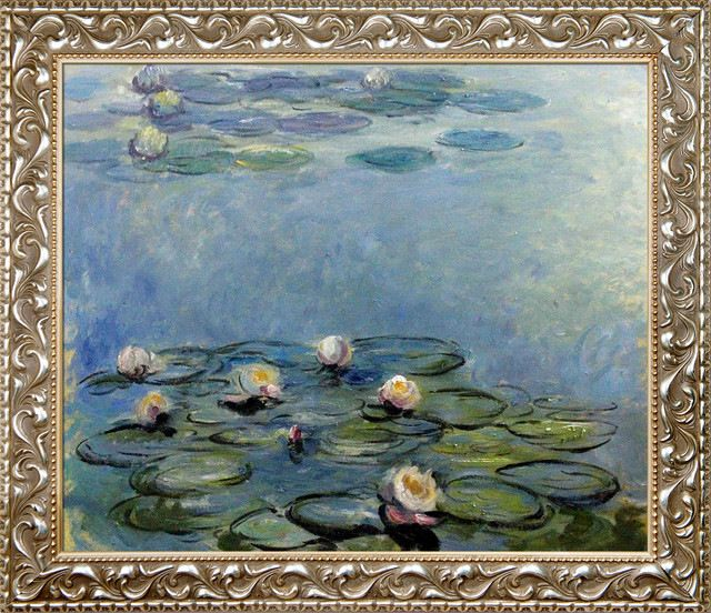 Monet - Water Lilies (Blue/Grey) traditional-prints-and-posters