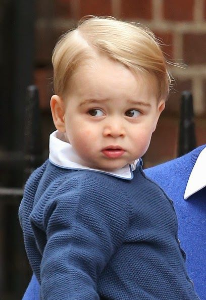 Prince George at the Lindo Wing at St Mary's Hospital on May 2, 2015 in London, England.