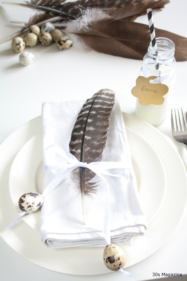 ≗ Feathered Nest of Hope ≗ bird feather & nest art jewelry & decor - feather place setting