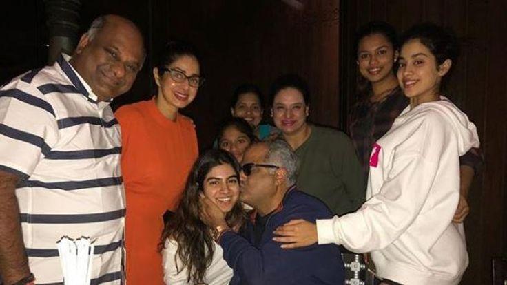 Inside Boney Kapoor's birthday bash Sridevi Jhanvi and Khushi celebrate with their favourite man - Hindustan Times