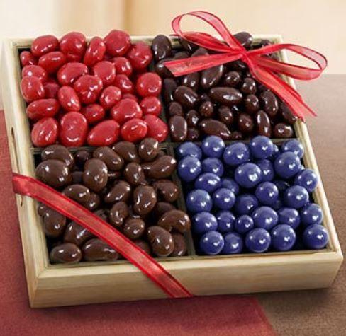 Chocolate Nut Trays - TX, CA, OR, WA, TN, PA, IL, NY, MA, CT, FL. http://nuttrays.com/chocolate-covered-nut-trays.htm