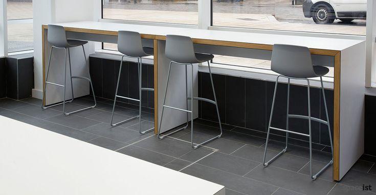 Designer high canteen table