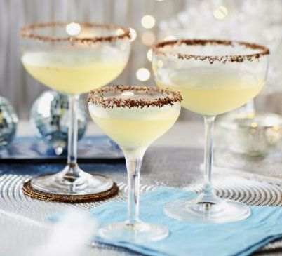 Impress your Christmas party guests with this festive cocktail - with vodka, orange syrup, crème de cacao and grated chocolate