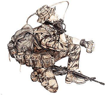 LRRP uniform/kit circa Vietnam