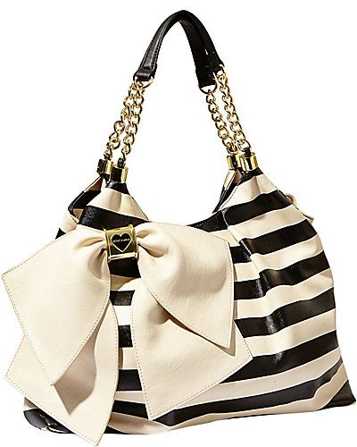 BOW LICIOUS TOTE PINK  Betsy Johnson Got this in leopard instead of stripes