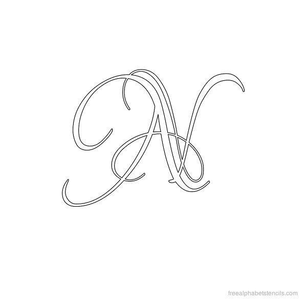 calligraphy alphabet stencil n