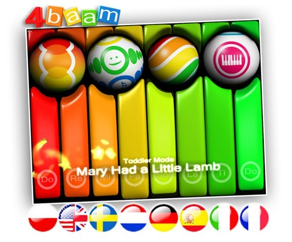 PianoBall speaks now 8 languages. :)