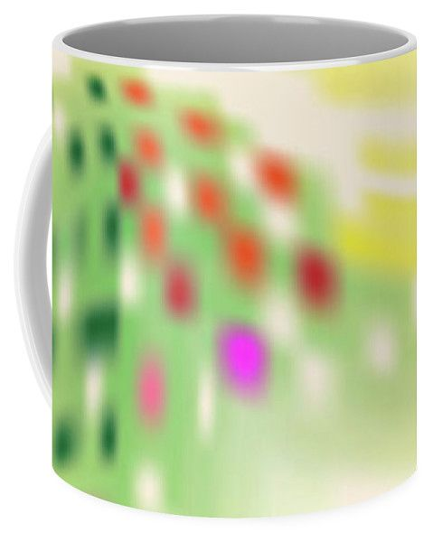 Yellow Coffee Mug featuring the digital art Digital Mind by Ron Labryzz