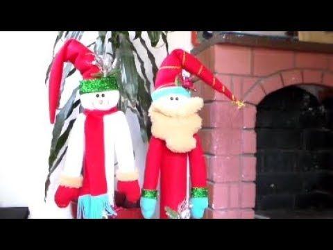 Como Elaborar un Muñeco de Nieve con un Tubo de Cartón