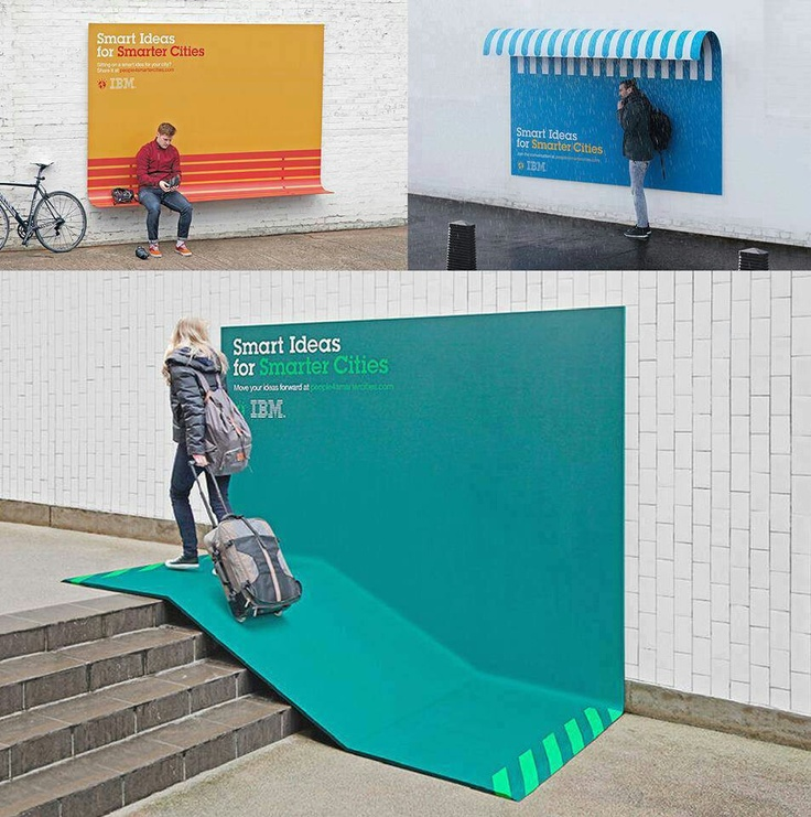 smart ideas for smarter cities ibm turns its ads into useful urban furniture cr cool thing fan page