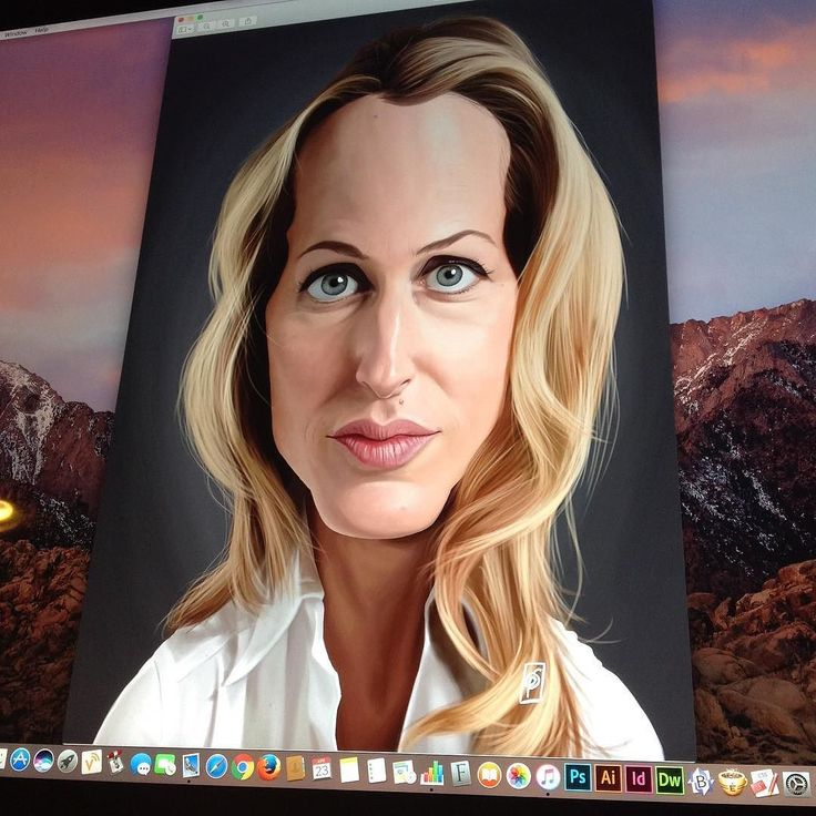 Gillian Anderson all complete! Celebrity Sunday #photoshop #wacom #thefall #xfiles #danascully #gilliananderson #art#instaart #instaartist #illustration #caricature instagram | art | ideas | follow