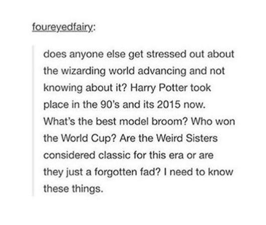 Harry Potter PTSD in the real world...