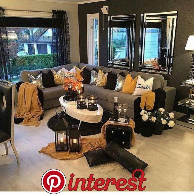 32 Amazing Modern Apartment Living Room Decorating Ideas 10 32 Amazing Modern Apartment Living Room De Glam Living Room Yellow Living Room Silver Living Room