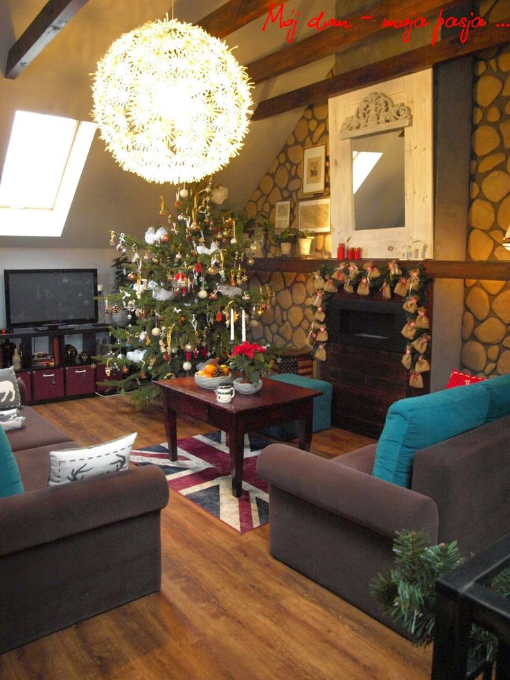christmas, decor, christmas tree, salon, home