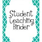 This is a product I made to use while student teaching.  Student teachers can use this to stay organized during the student teaching experience.  I...