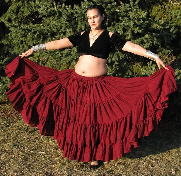 How to make 25 yrd gypsy skirt