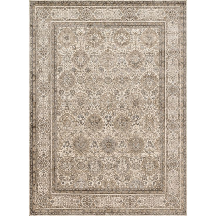 Alexander Home Kendrick Sand/ Taupe Rug (3'7 x 5'7) (Sand/ Taupe (3'7 x 5'7)), Beige, Size 3'7 x 5'6 (Plastic, Border)
