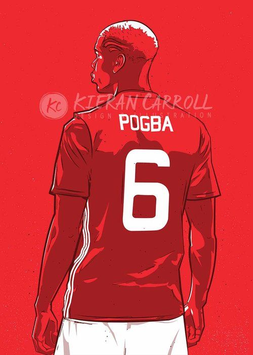 Paul Pogba #MUFC  Prints available via www.KieranCarrollDesign.com