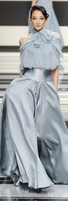 Billowing ice blue Elie Saab pants