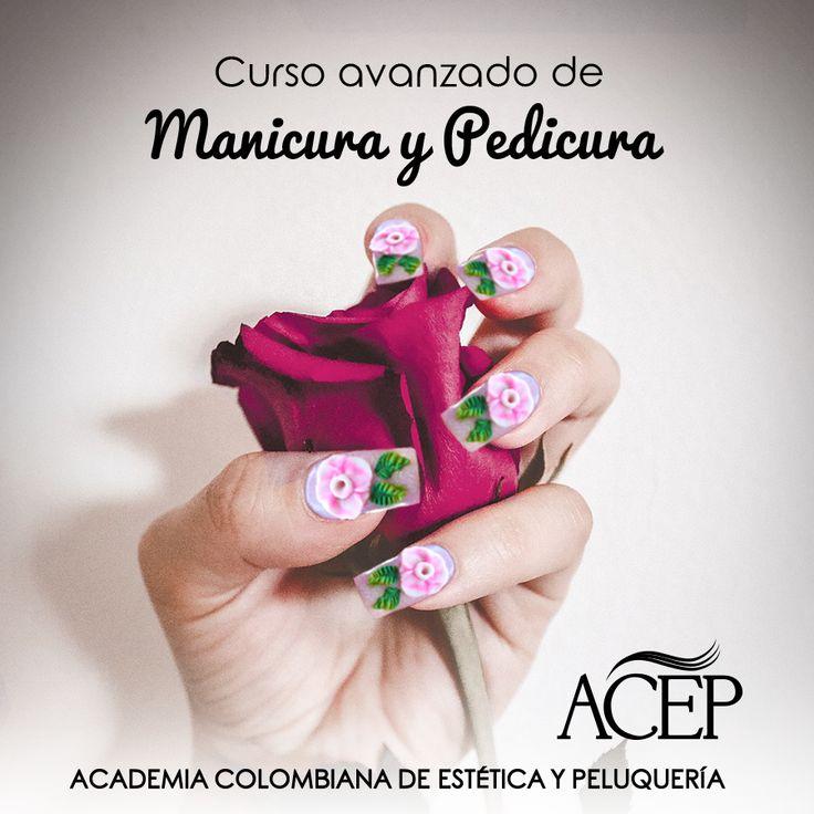 Curso Avanzado de Manicura y Pedicura  ¿Quieres hacer uñas a la moda? En ACEP puedes aprender las últimas tendencias en manicura y pedicura tales como Uñas Acrílicas, 3D, Uñas en Gel, Técnica Semi-Permanente.  Inicio: 12 de Abril 2016 Intensidad: 1 Vez por Semana Horario: 08:00 am - 12:00 am Duración: Clases 15 Sede Medellín Informes: 5126665 - 5719177  #Academia #Cursos #Belleza #Bella #Mujer #Uñas #3D #Manicura #Pedicura #Pies