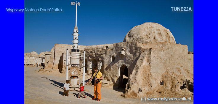 Tunisia, Ong Jamal, Sahara -  scenography of Star Wars. {Tunezja, Shara, Ong Jamal - scenografia filmu Gwiezdne Wojny} #Tunisia #Star Wars #Gwiezdne Wojny #Tunezja #Sahara #movie