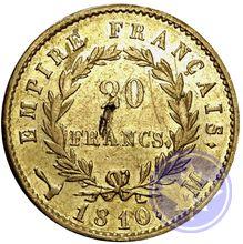 20 francs 1810m Napoléon Empereur ttb