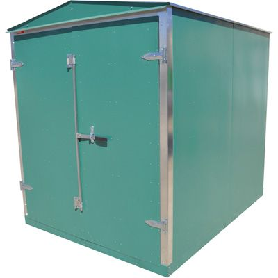 Western Steel Heavy-Duty Secure Storage Shed — Green, 96 1/2in.L x 74 1/2in.W x 88 1/2in.H  ANOTHER NICE SHED IDEA