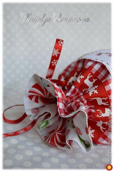 """""""Праздник к нам приходит!"""", мешочек для подарков, Новый год 2016 - текстильные и тканые изделия, авторские новогодниеи рождественские подарки. МегаГрад - мега-портал авторской ручной работы"""