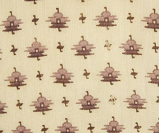 1830s cotton fabric.