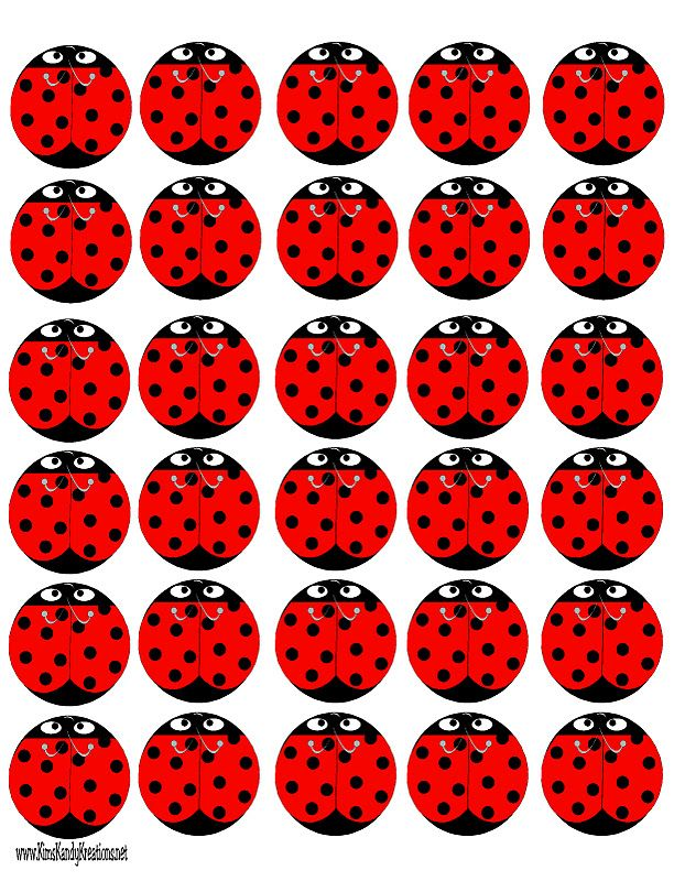 FREE printable Ladybug Peppermint Patties / Kims Kandy Kreations
