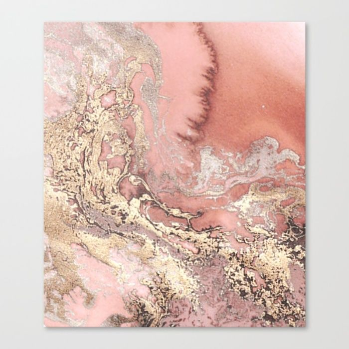 Rosegold marble Canvas Print by Goldrose | Society6 https://www.facebook.com/shorthaircutstyles/posts/1758989824391457