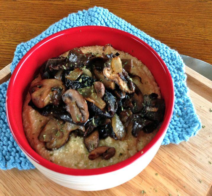 Creamy White Polenta With Mushrooms Recipe — Dishmaps