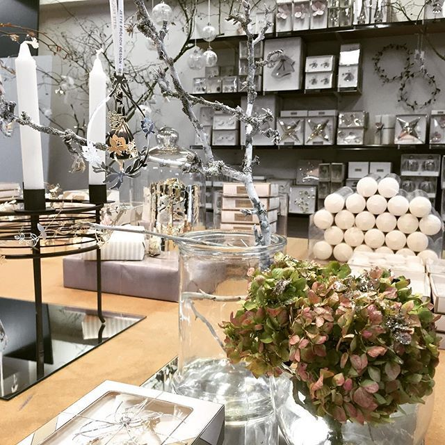 """Here is another picture from our Christmas exhibition in Magasin, Odense. Can you spot somewhere one of the new designs from our 2016 collection, the """"Flowergirl""""? #flowergirl #magasinodense #christmasexhibition #jettefrölich #jettefroelich #jettefrölichdesign #jettefroelichdesign #danishdesign"""