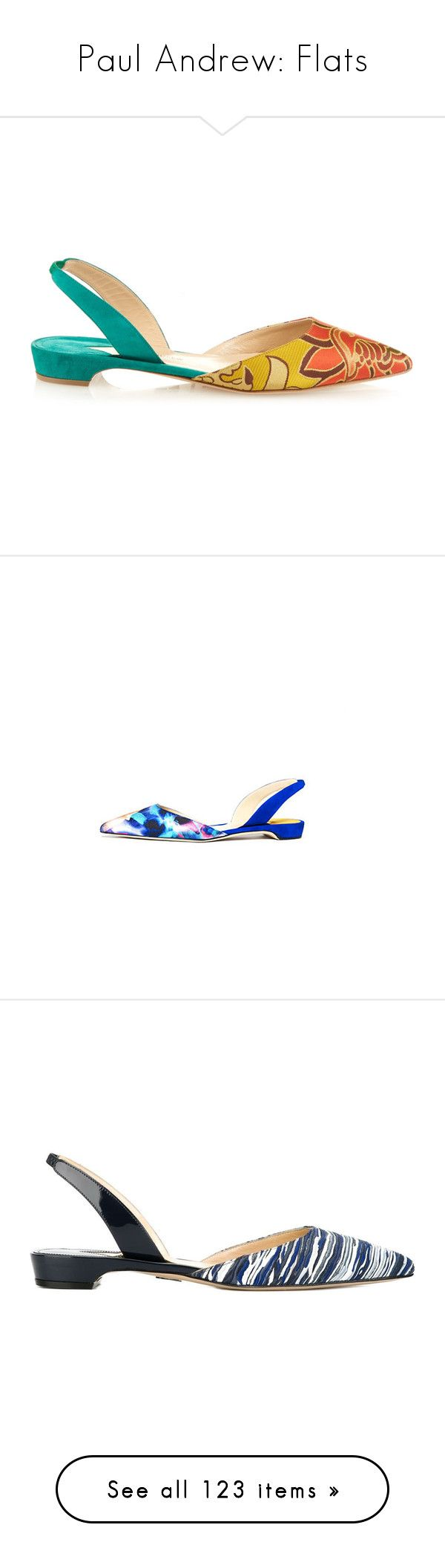 """Paul Andrew: Flats"" by livnd ❤ liked on Polyvore featuring flats, paulandrew, livndshoes, livndpaulandrew, shoes, sandals, flat pumps, evening flats, slingback sandals and pointed-toe flats"