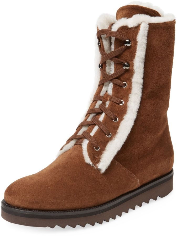 359efad6022d Aquatalia Women s Payton Sheep Fur-Trimmed Suede Boots