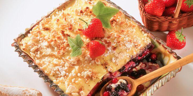 Lasagnes express aux fruits rouges
