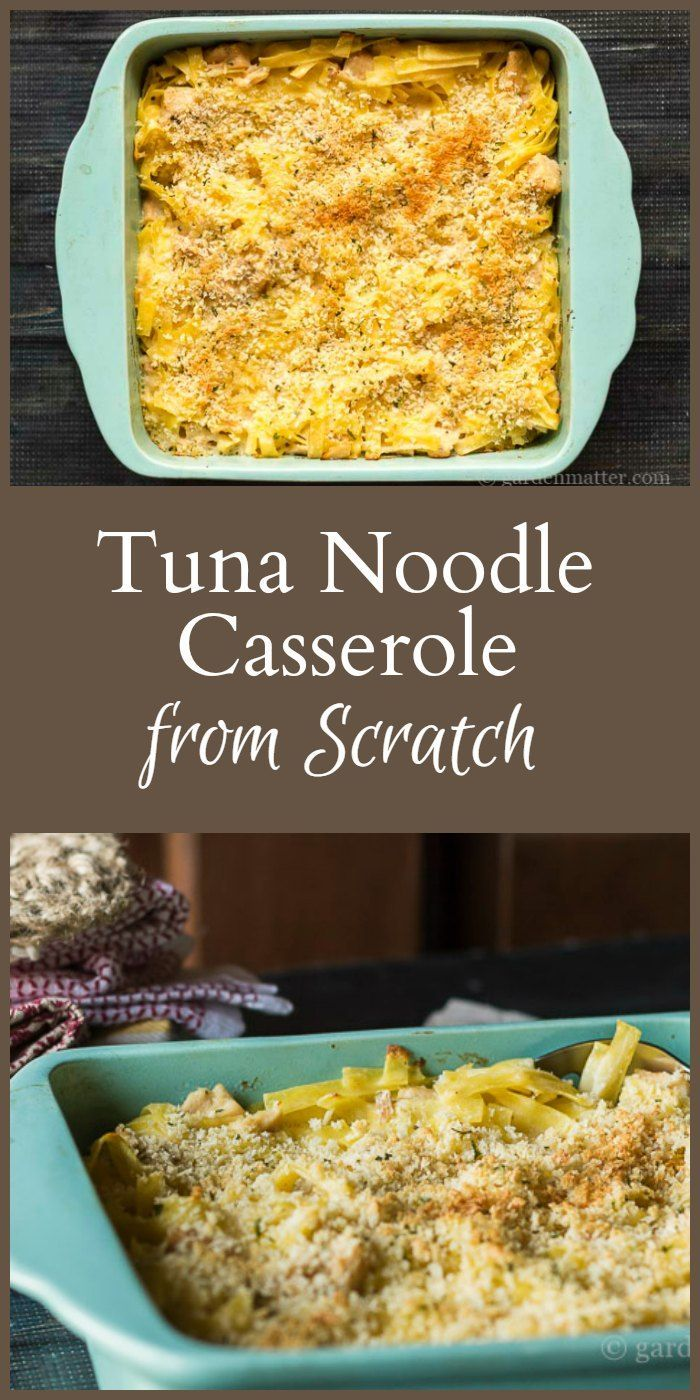 Learn how to create a delicious tuna noodle casserole from scratch. It's very quick and easy to make and a nice meatless option for dinner.