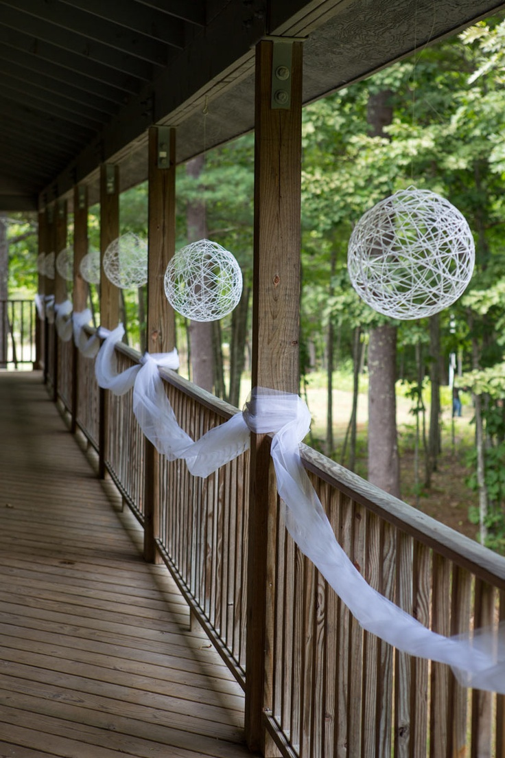 DIY String Balloons to decorate the altar, hang from rafters, cluster together, etc...