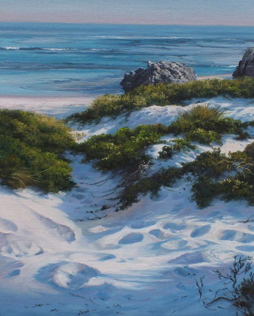 "'Footprints to the Reef"" painted at Rottnest Island, Western Australia by Robyn Collier"