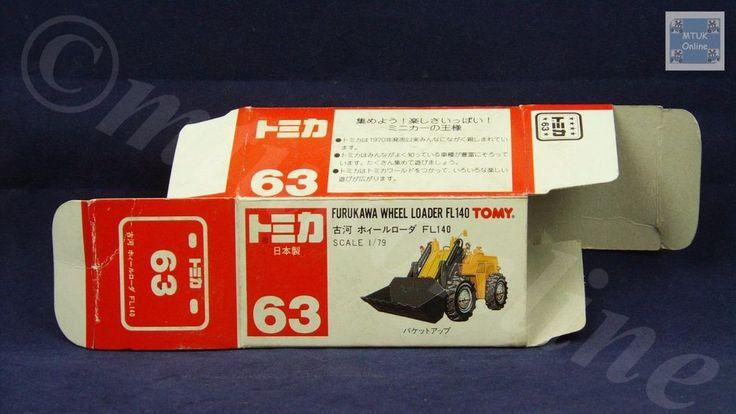 TOMICA 063A FURUKAWA WHEEL LOADER | 1/79 | ORIGINAL BOX ONLY | ST6 1996 JAPAN