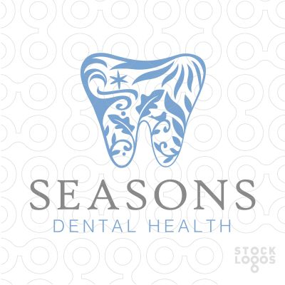 Logo For Sale: Beautiful, elegant and sophisticated dental tooth design with the four seasons creatively represented within the tooth shape