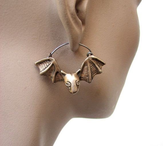 bat bull terrier earrings, these things are perfect for Halloween!!