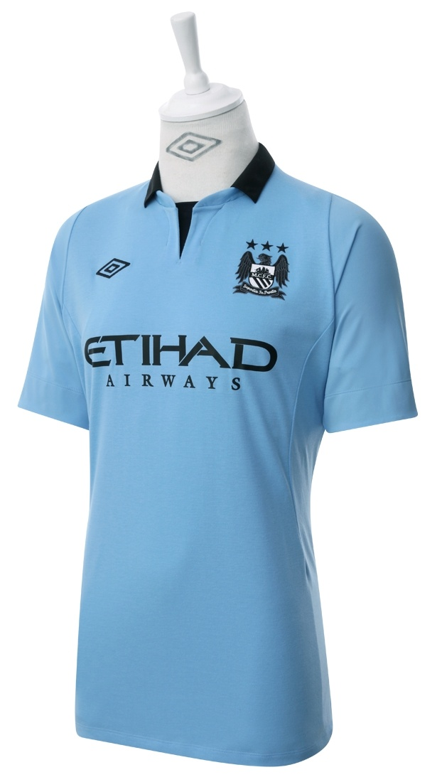 Umbro Manchester City 2012 Short Sleeved Home Shirt