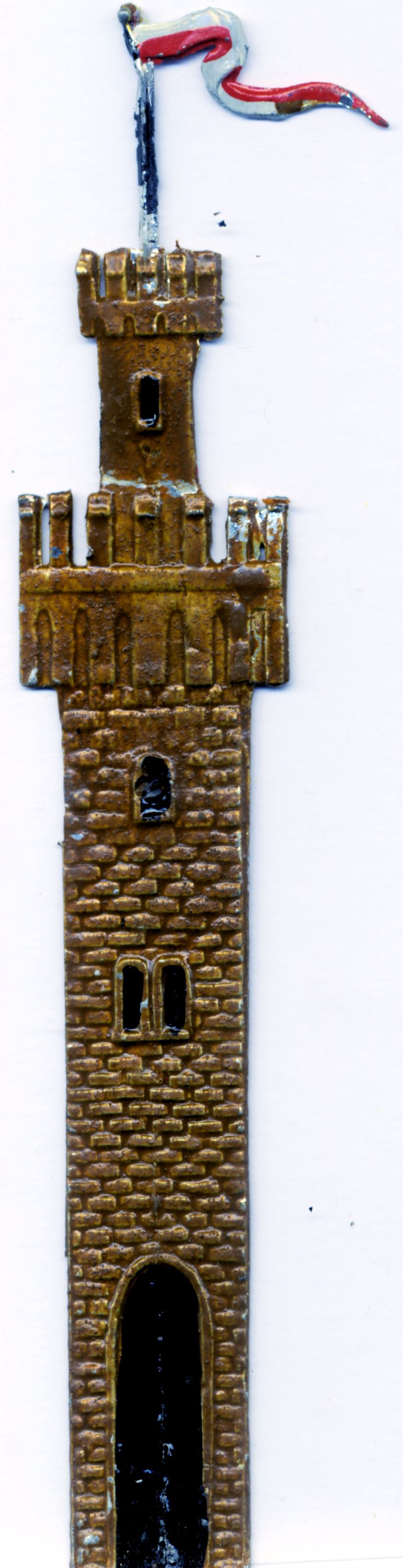 Spielzeug aus dem Jahre 1890.Schlossturm.Mittelalter. Kellerfund.