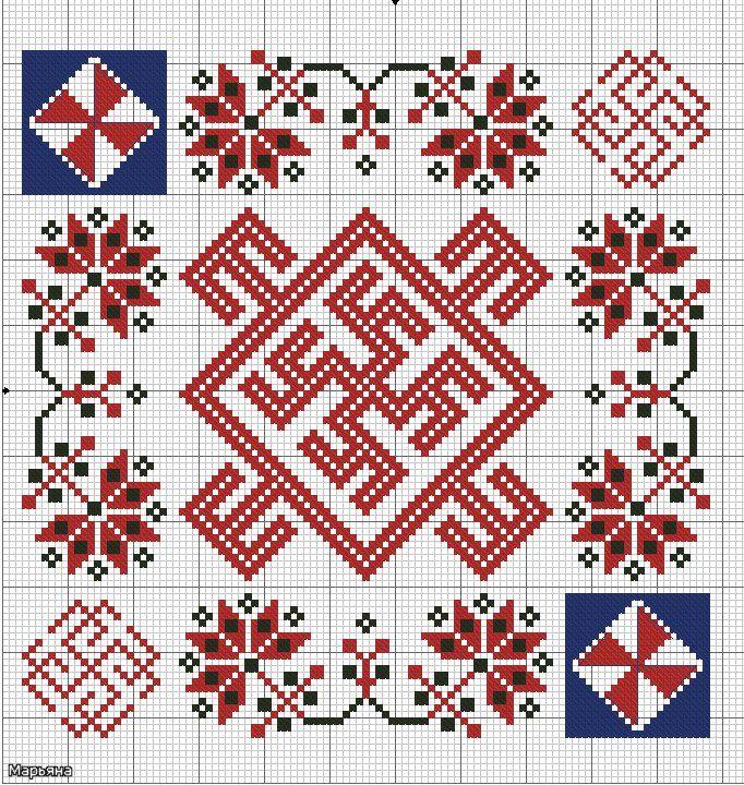 Духобор, Одолень-трава и Цвет Папоротника. Правила вышивки — Маленькая Tsukiko