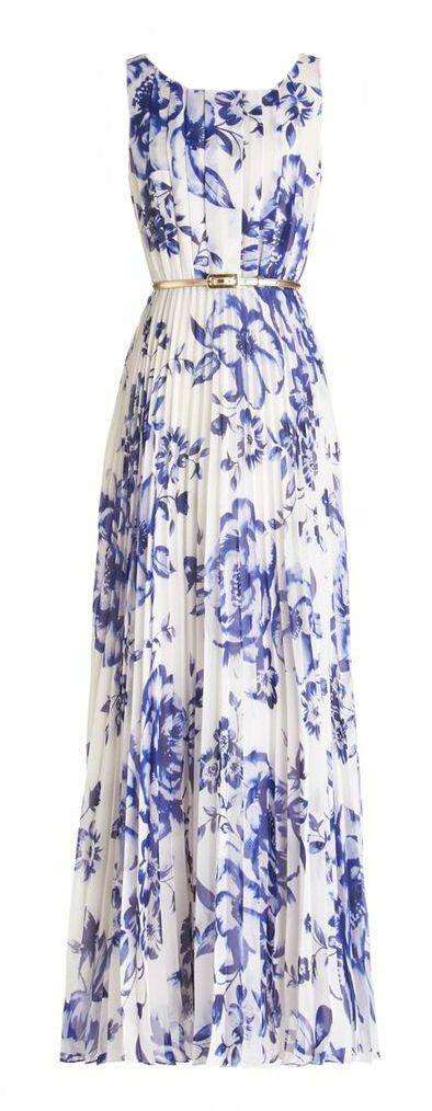 Gorgeous blue and white maxi